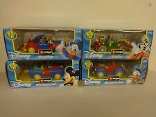 Burago Italy 1:24 Disney 4 Car Set - Scrooge, Goofy, Donald, Mickey - Mint W/Box