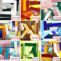 200g Transparent Mosaic Tiles Stained Glass Border Strips DIY Art Craft Supplies