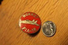 """Vintage Goldtone Enamel """"Hornet Fia-18"""" & """"My Brother Served In Vietnam"""" Pins"""