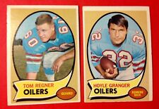 1969-70 Houston Oilers x2 NFL Football cards  Tom Regner #181 Hoyle Granger #155