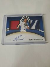 TONY GONSOLIN 2020 PANINI IMMACULATE DUAL JERSEY AUTO RPA 10/10 1/1 L.A. DODGERS
