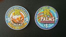 palms las vegas chinese new year of the rooster $8 casino chip unc / 1288