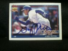 1991 TOPPS  GARY PETTIS  AUTOGRAPHED CARD