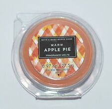 1 BATH & BODY WORKS WARM APPLE PIE WAX MELTS TART WHITE BARN WARMER REFILL DISC
