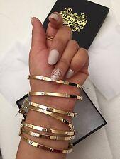 14k Two-tone Gold Screw Bangle Bracelet Yellow/white Gold NWT Only 1