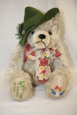 "Max Hermann ""The Happy Wanderer Bear"" Mohair Jointed 100th Birthday Limited Ed!"