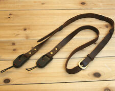 Leather camera strap micro single ricoh GR SONY black card The Gopro sling