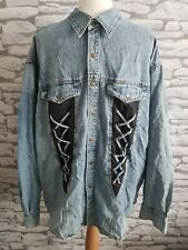 JOHN BANER QUALITY WESTERN STYLE DENIM SHIRT / JACKET loose fit L 40/42""