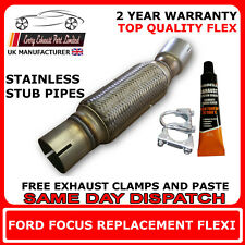 ford focus exhaust flexi flex cat repair pipe 1.8tdi tdci  stainless steel