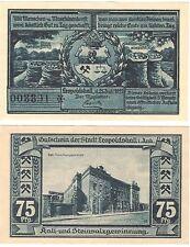 Germany 75 Pfennig 1921 Notgeld Leopoldshall UNC Banknote