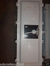 EXPLOSION PROOF BREAKER ENCLOSURE DISCONNECT 600V WITH 400 AMP TJK BREAKER