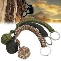 Outdoor Survive Hand Weaving Umbrella Rope Self-Defense Ball Key Chain Key Ring