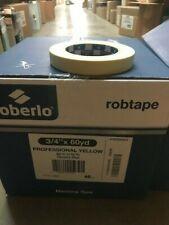 "ROBERLO PROFESSIONAL YELLOW 3/4"" MASKING TAPE CASE 18mm 60YD"
