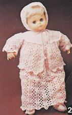 """BABY DOLL LAYETTE for 48cm / 19"""" 3ply - COPY vintage doll crochet pattern"""