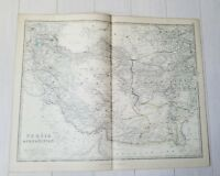 RARE OLD 1880 KEITH JOHNSTON ANTIQUE MAP OF PERSIA AFGHANISTAN ATLAS Persian