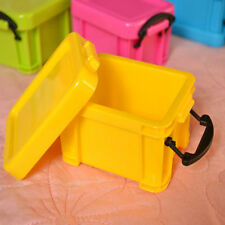 Plastic Mini Storage Sundries Box Case Container Organizer Desk Box Candy Color