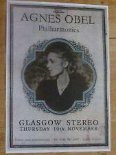 Agnes Obel - Philharmonics - Glasgow nov.2011 live show tour concert gig poster