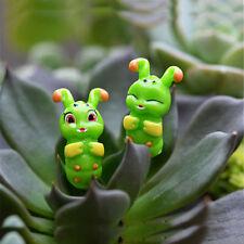 2PCS Caterpillar Fairy Garden Miniature Crafts Micro Landscape Decor DIY