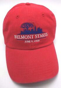 BELMONT STAKES 2009 red adjustable cap / hat - Winner: Summer Bird