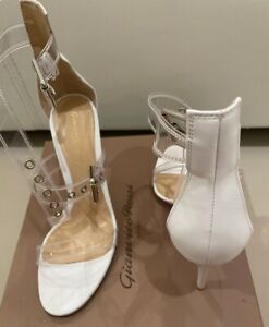 Gianvito Rossi Gabby PVC White Sandals Size 38 (Lightly Used)