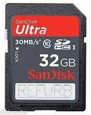 SanDisk 32GB SD Ultra SDHC Class 10 Canon G7 X G1 X G16 S120 S110 S100 Refurb