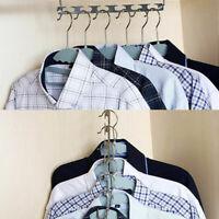 Metal Hangers Closet Organizer Rack Space Saving Multi Slots Hanger with Hook