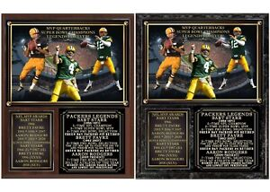 Green Bay Packers Starr Favre Rodgers Legends Photo Plaque