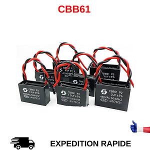 CBB61 1uF 2uF 1,5uF 2,5uF 5uF 450 VAC CONDENSATEUR DE DEMARRAGE MOTEUR AU CHOIX