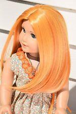 """Custom 11"""" Doll Wig For 18"""" American Girl dolls Heat Safe GOTZ our generation"""