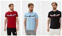 NEW Kappa Mens red blue Black short sleeve Casual T-Shirt Size S M L XL