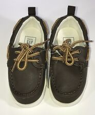 Baby Gap Boys Size 6 Brown Boat Loafers Slip On Shoes Nautical