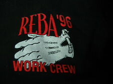 REBA McENTIRE 1996 Tour USA Black WORK CREW Extra Large T-Shirt XL
