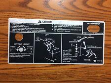 NICE John Deere 400 LGT  Fender Deck Decal