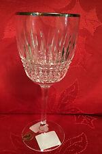 Waterford Crystal Lismore Diamond Platinum White Wine Glass 163713 NEW