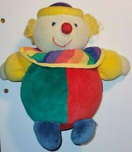 """Vintage Eden Plush Clown 7"""" with Bell Sound"""