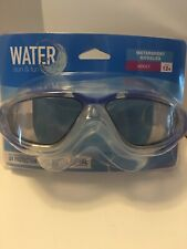 Adult QUICK ADJUST Head Strap Watersport Goggles, Adult 12+ UV Protection-BLUE