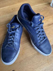 Mens Puma Navy Blue Trainer Shoes UK Size 9 EU 43