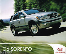 2006 KIA SORENTO SUV Catalog / Brochure with Color Chart, '06