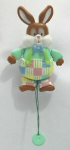 Easter American Greetings Vintage Bloomer Bunny Pull Pin EUC