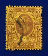 1906 SG233 3d Dull Reddish Purple/Yellow Lemon back CSP M20(3) Used Cat £85 cqri