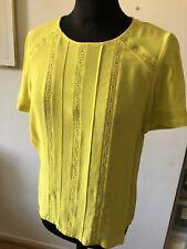 Yellow comptoir des cotonniers Short Sleeve Blouse 38