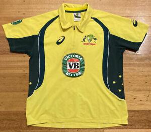 Cricket Australia Asics VB ODI One Day Cricket Shirt Jersey Victoria Bitter - S