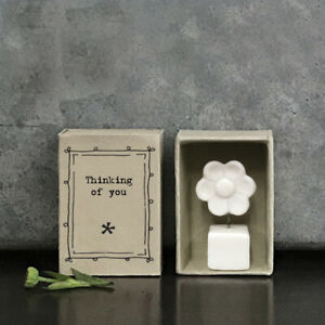 East of India Vintage Style Matchbox Flower - 'Thinking of You'
