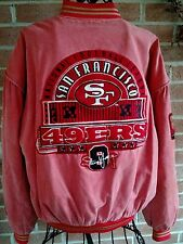 Vtg San Francisco 49'ers Football Coat Nutmeg by Campri Sz M Steve Young Patches