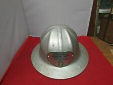 Vintage B F Mcdonald Co La Allumin Hard Hat With Inside Strap