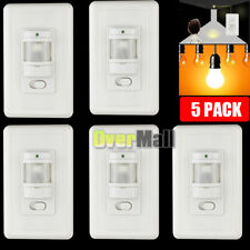 Lot 5 Auto On/Off Infrared PIR Occupancy Vacancy Motion Sensor Light Lamp Switch