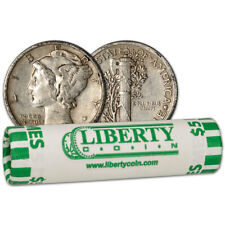 90% Silver Mercury Dimes - Roll of 50 - $5 Face Value