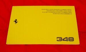 Ferrari 348 - RARE Original Owners Handbook Supplement - Service Schedule 1993