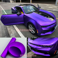 65FT x 5FT - Full Car Wrap Metallic Satin Matte Chrome Vinyl Sticker Purple CF