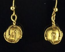 Antique MMA Earrings Modern Museum of Art 1980s gold plated textured orbs